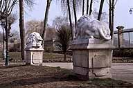 ensemble de 2 statues de lion