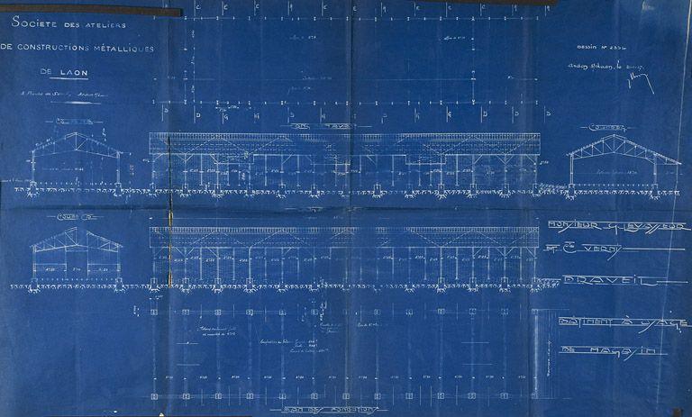 Gertrude Plan Du Bâtiment à Usage De Magasin Construit Par La