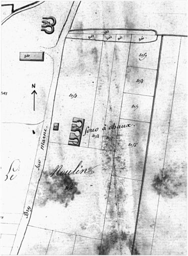 Cadastre, section B, feuille 4. 1810.