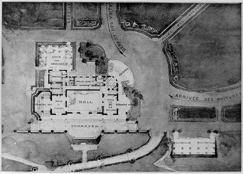 Plan du manoir. Tiré de : La Construction moderne, 1912-1913. /