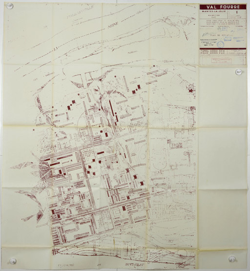 Plan d'ensemble de la ZUP en 1965. (Archives Nationales, Direction de l'Habitat et de la Construction, 19840091/130-132)