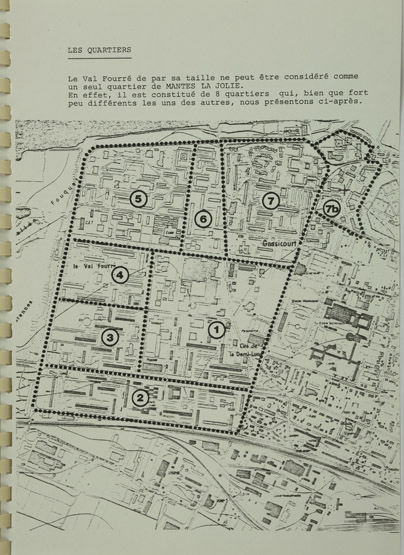 Plan d'ensemble en 1983. (Archives nationales, Direction de l'Aménagement foncier et de l'Urbanisme, 19950207/42-43)