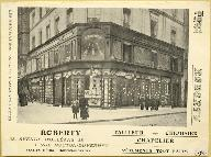 Grand magasin Roberty, 1 rue Mouton Duvernet. -Carte postale, vers 1900 (Collection particulière).