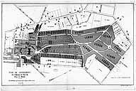 Plan du lotissement du parc, vers 1899. (Archives de Paris. 6 AZ 1335)